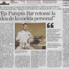 """EN PAMPÍN BAR RETOMÉ LA IDEA DE COCINA PERSONAL"""